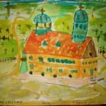 Peisaj cu biserica