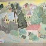 Peisaj cu case